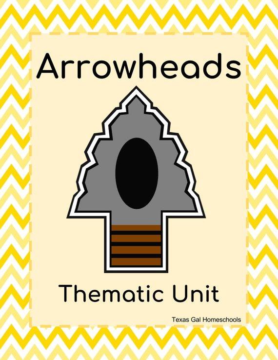 Arrowheads thematic unit digital. Arrowhead clipart archaeology