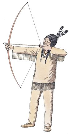 Past bow and arrows. Bows clipart native american