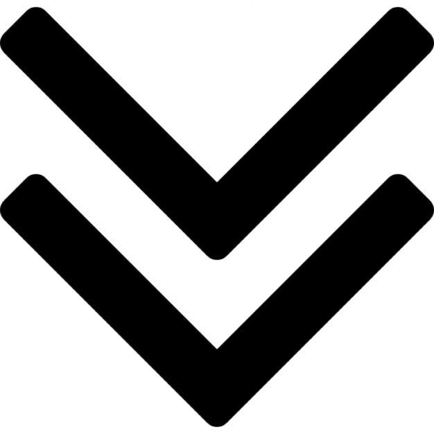 Thin arrowheads pointing icons. Arrowhead clipart arrow down