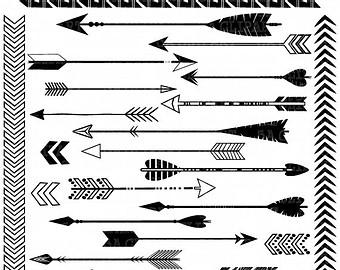 Arrowhead clipart arrow point. Svg silhouette tribal arrows
