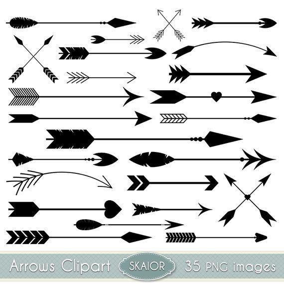 Arrow shapes doodles graphic. Arrows clipart adventure