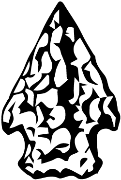 arrowhead clipart black and white