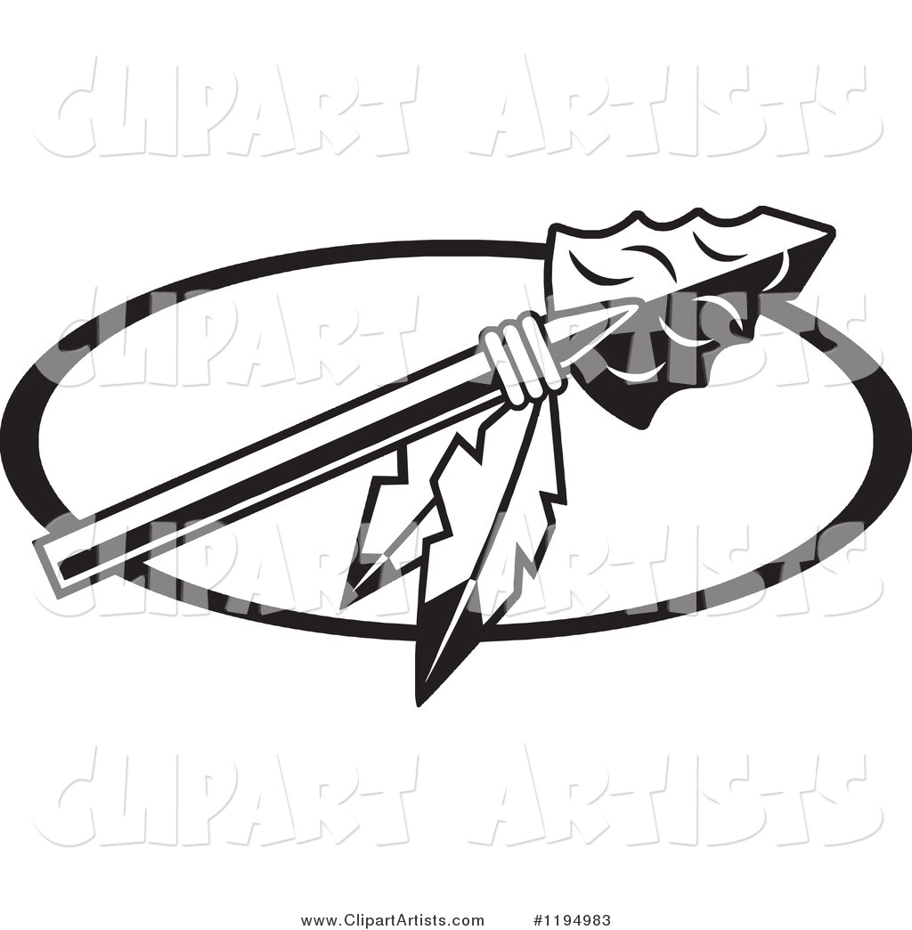 indian vector images. Arrowhead clipart black and white