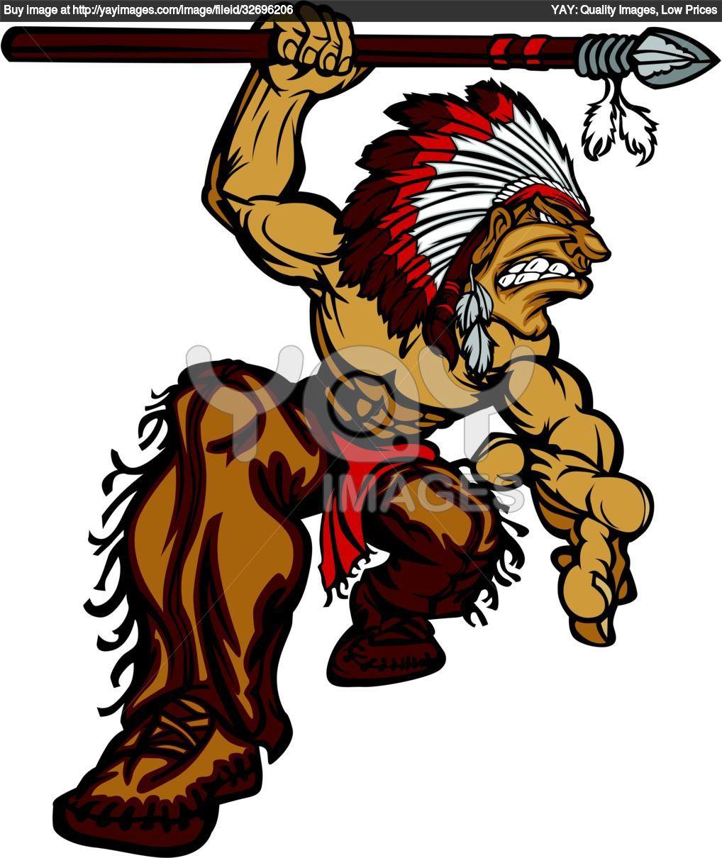 Mascots indian spear tattoos. Arrowhead clipart cartoon