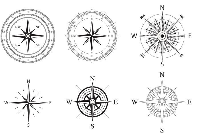 Arrowhead clipart compass. Wind and nautical rose