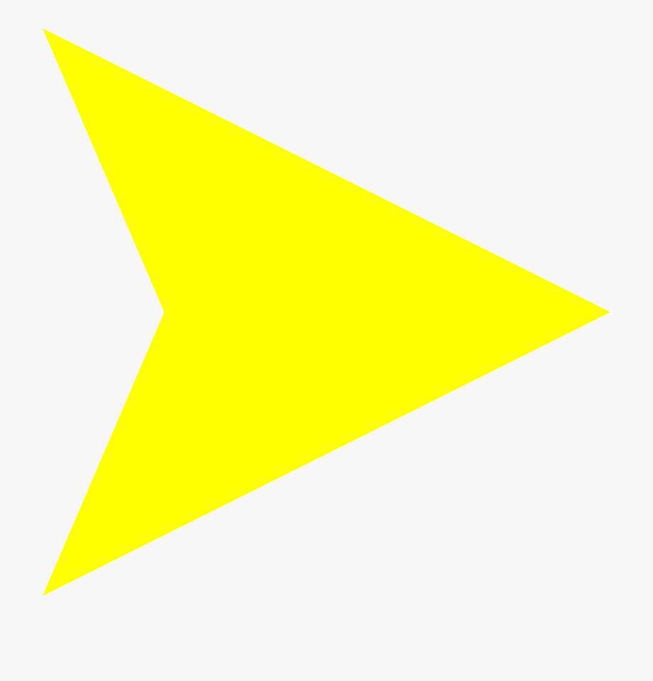Arrowhead clipart end. Arrow head png yellow