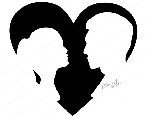 Shape with couple inches. Arrowhead clipart heart shaped
