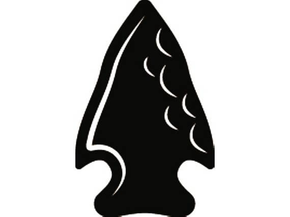 Indian warrior weapon rock. Arrowhead clipart native american arrowhead