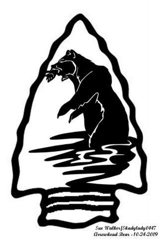 Arrowhead clipart scroll saw. Bear animals user gallery