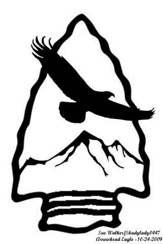 Eagle animals user gallery. Arrowhead clipart scroll saw