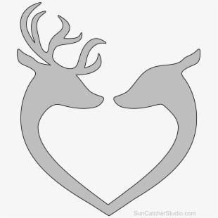 Clip art deer heads. Arrowhead clipart scroll saw