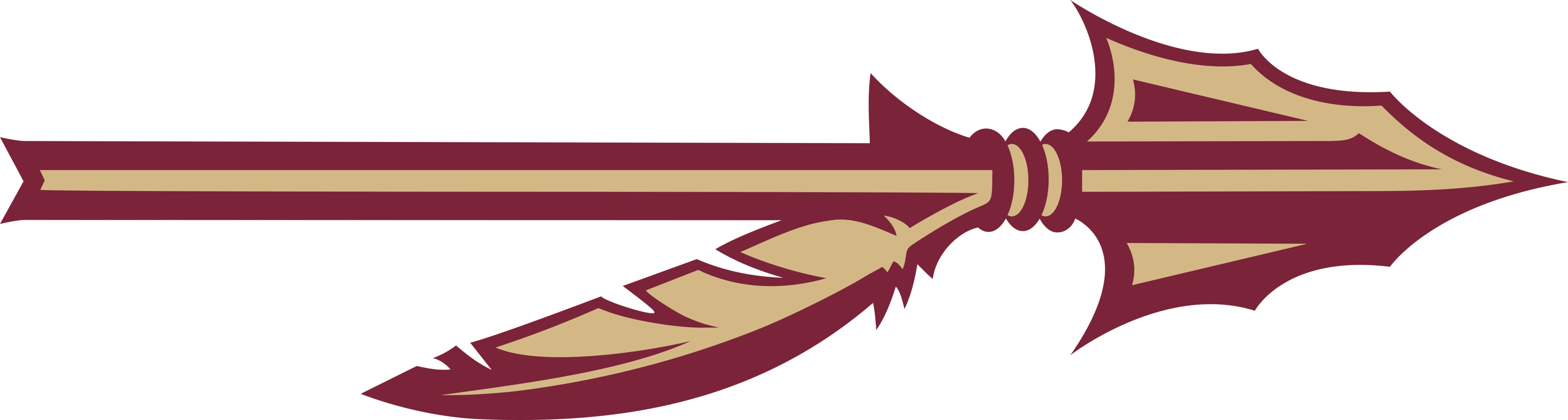Indian clipart spear. Florida state seminoles team
