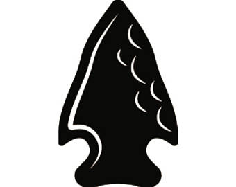 Arrowhead clipart seminole. Svg etsy indian native