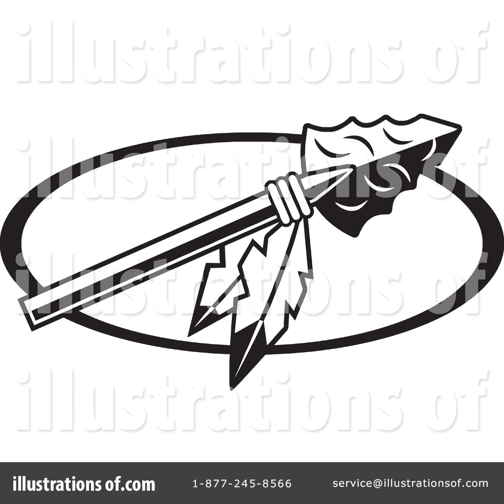 Caveman clipart spear. Arrowhead pencil and in