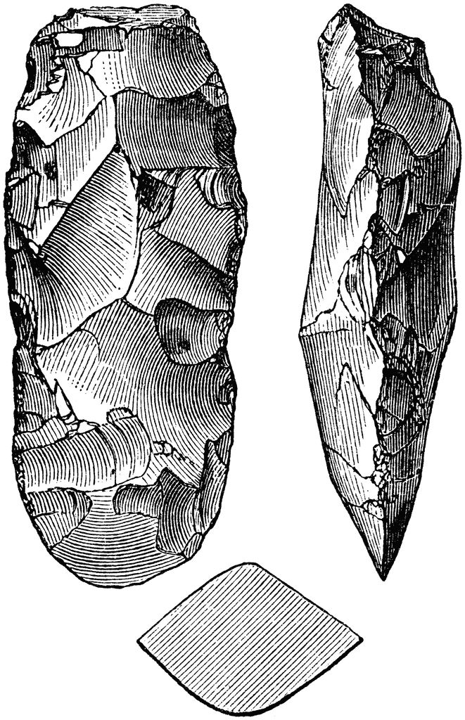Arrowhead clipart stone age.  best tools images