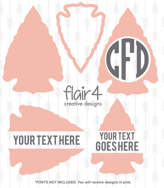 Dxf png from flairfour. Arrowhead clipart svg