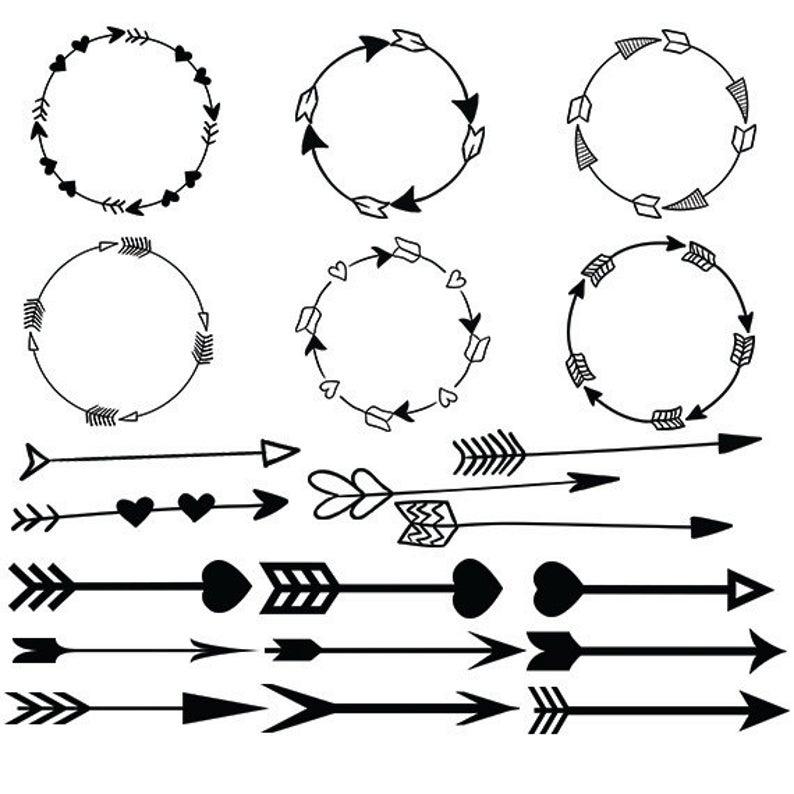 Arrow circle vector heart. Arrowhead clipart svg