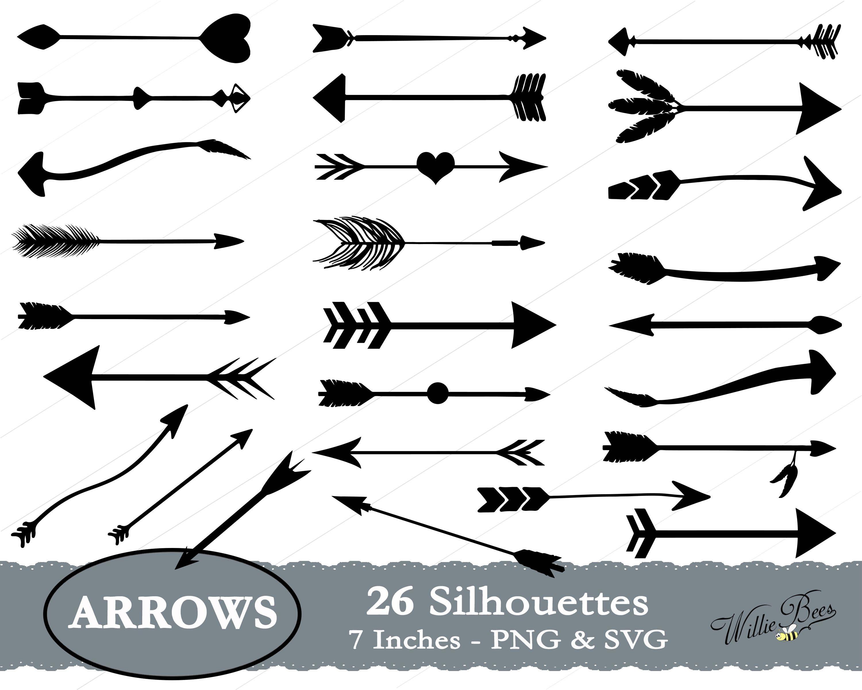 Arrowhead clipart svg. Arrow silhouette tribal arrows