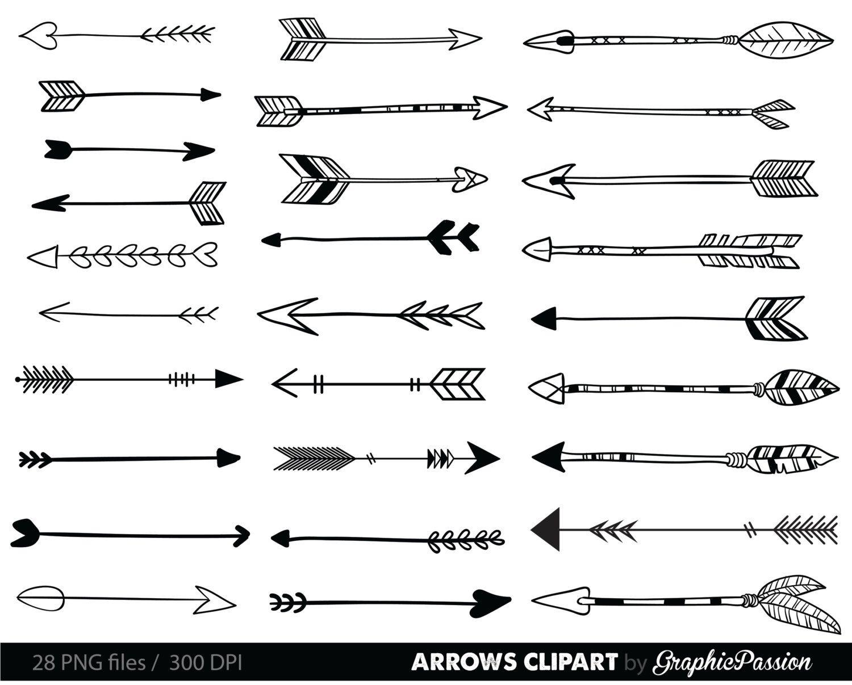 Arrowhead clipart tribal. Arrows clip art arrow