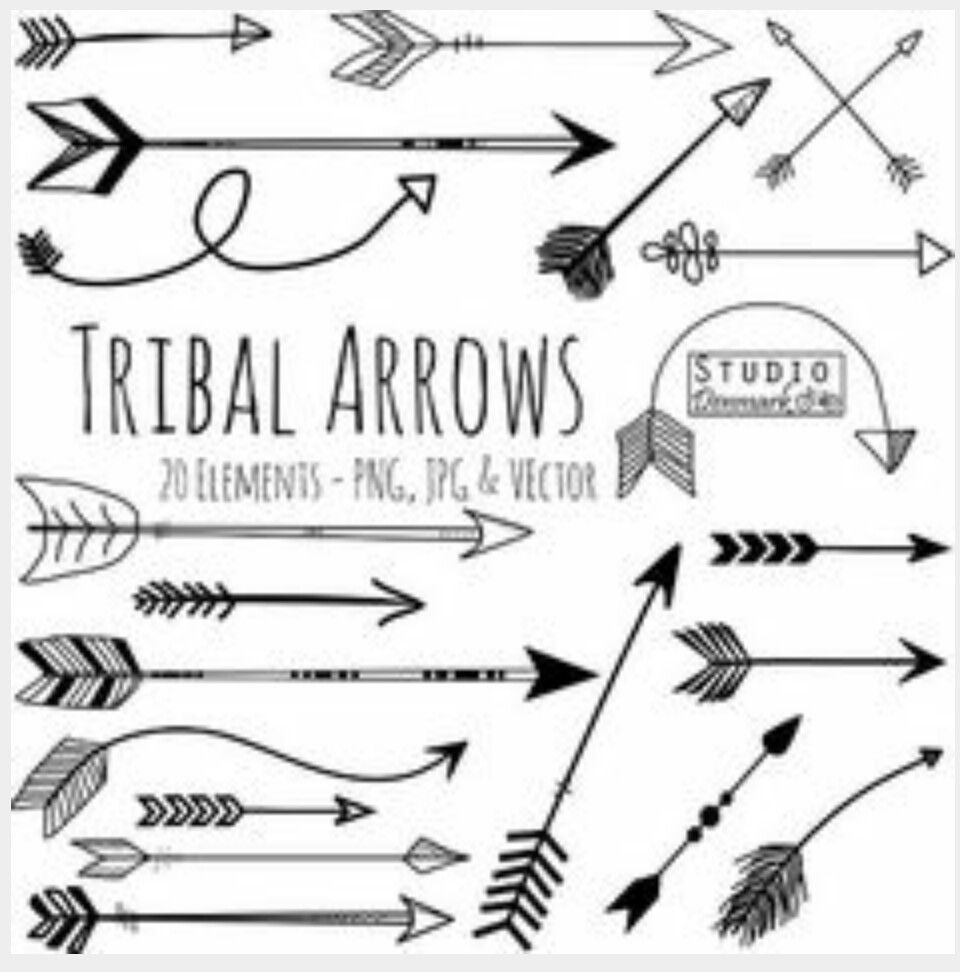 Arrows art pinterest tattoo. Arrowhead clipart tribal