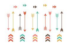 Whimsical arrow clip art. Arrowhead clipart tribal