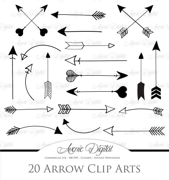 Arrowhead clipart tribal. Black arrow scrapbook printables