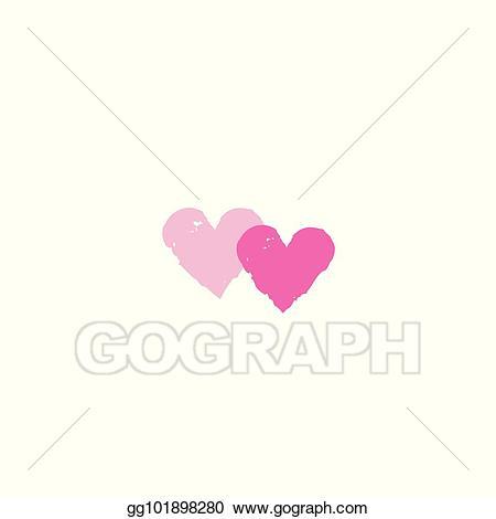 Vector art two hearts. Arrowhead clipart valentine