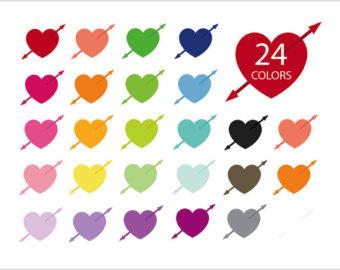 Arrowhead clipart valentine. Arrow etsy heart icon