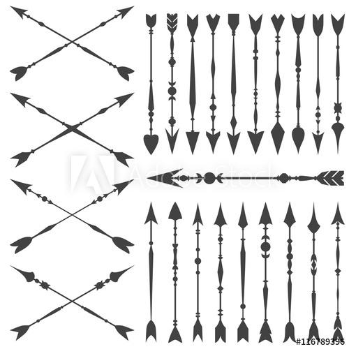 Arrow clip art set. Arrowhead clipart vector