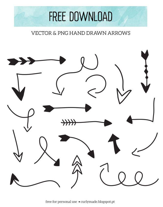 Free download hand drawn. Arrowhead clipart vector