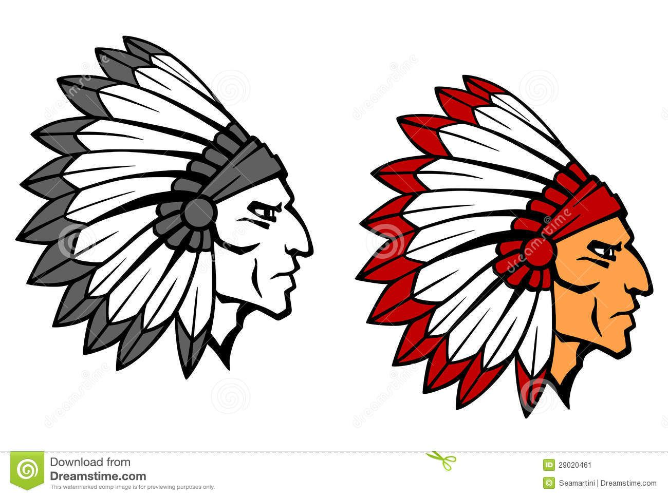 Arrowhead clipart warrior.  best indian mascots