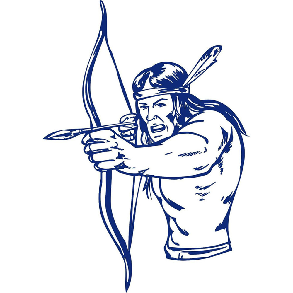 Native american arrow drawing. Arrowhead clipart warrior