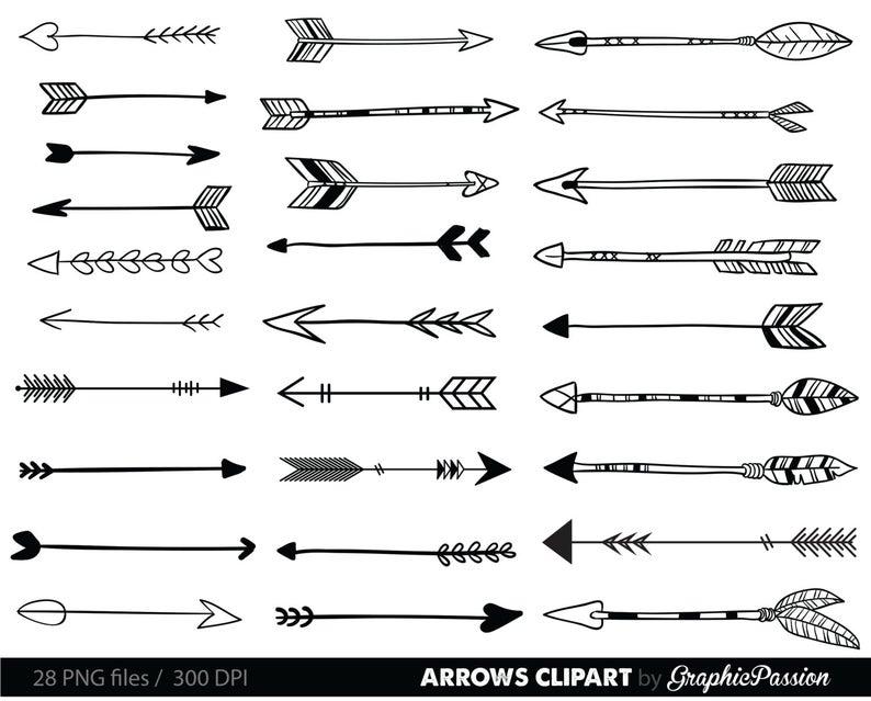 Arrows clipart. Clip art tribal arrow