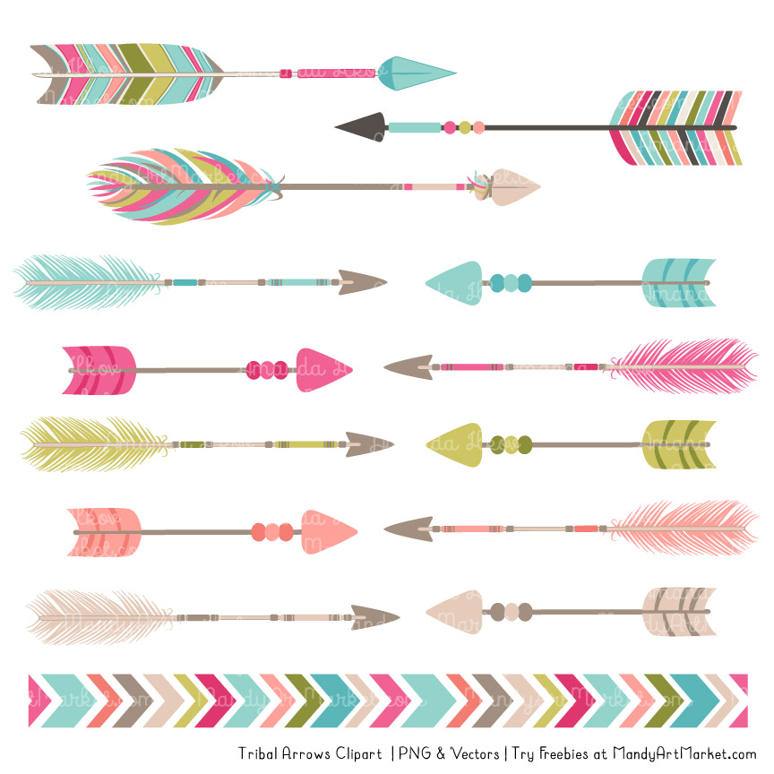 Bohemian tribal . Arrows clipart