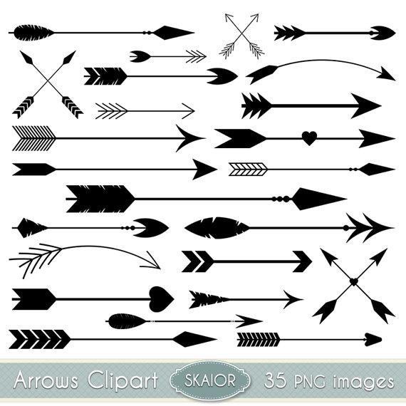 Arrows clipart. Vector clip art tribal