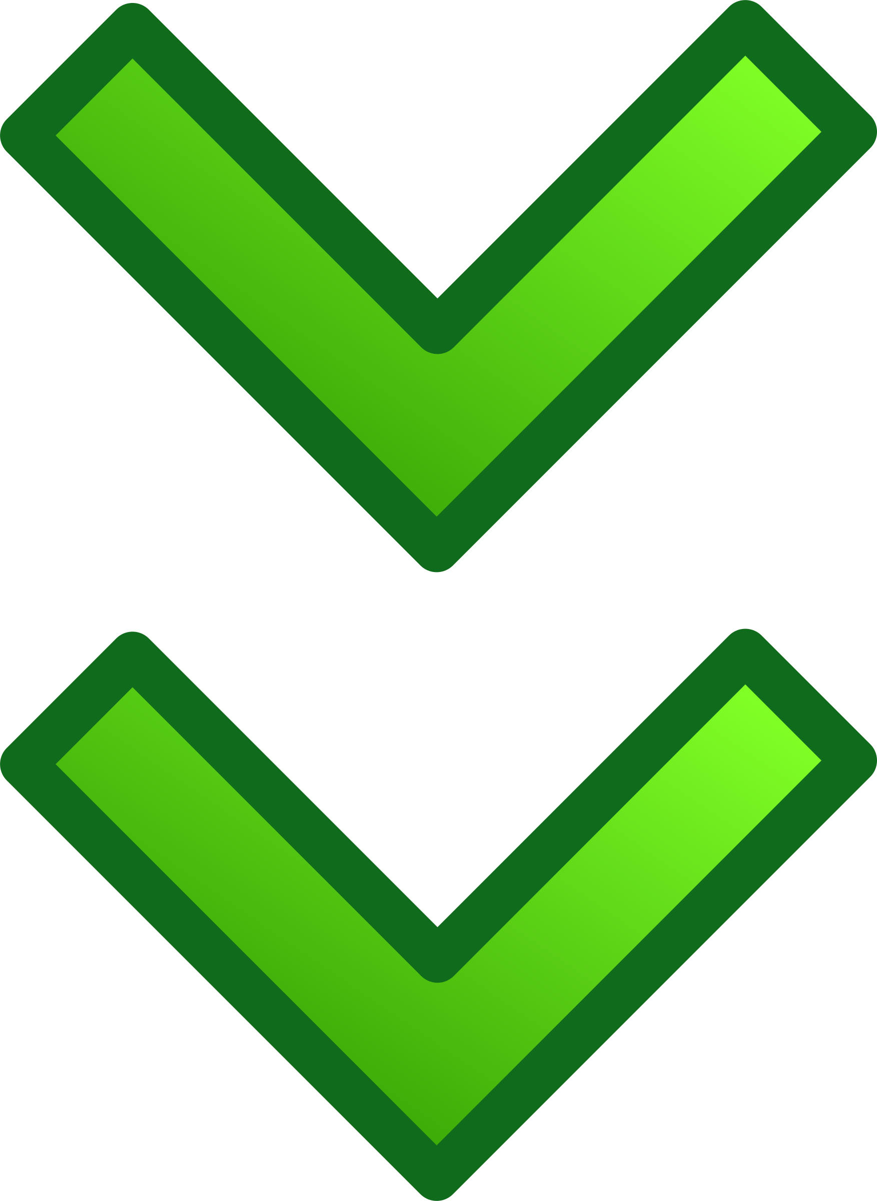 Arrows clipart animated. Green double set big