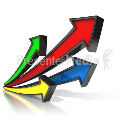Arrows clipart animated. Shooting upward signs and