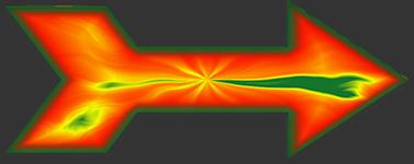 Arrow graphics with liquid. Arrows clipart animated
