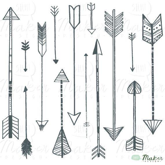 best arrow tattoo. Arrows clipart artsy