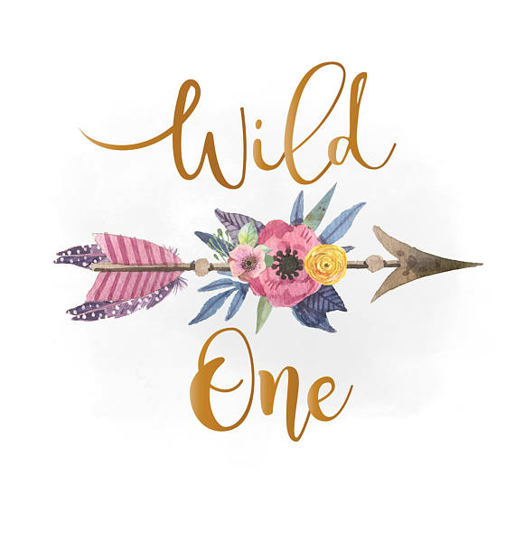 Arrows clipart boho. Wild one svg feathers
