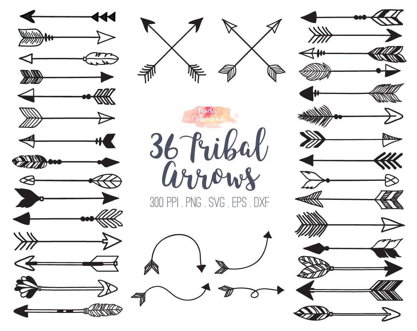 Arrows clipart calligraphy. Buy get free tribal