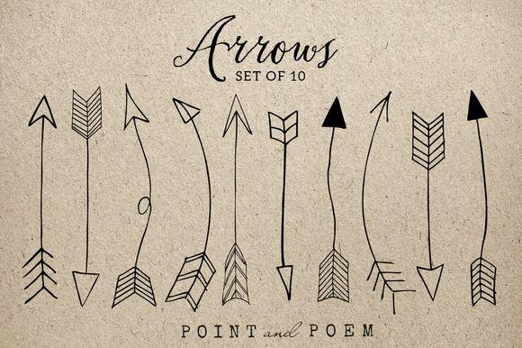 Arrows clipart calligraphy. Hand drawn arrow clip