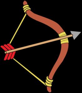 Bow and arrow clip. Arrows clipart cartoon