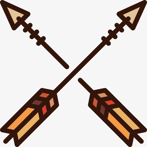 Arrows clipart cartoon. Two archery arrow png
