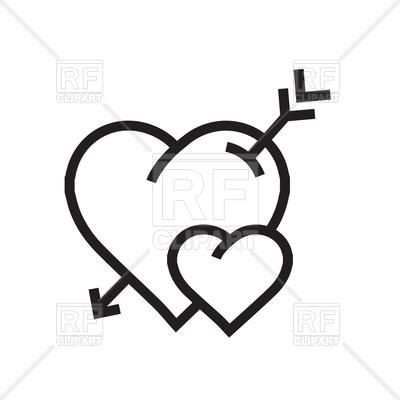 Heart with arrow free. Arrows clipart cartoon