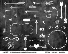 Background chalkboards and arrow. Arrows clipart chalkboard