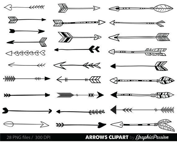 Arrows clipart clip art. Tribal arrow archery hand