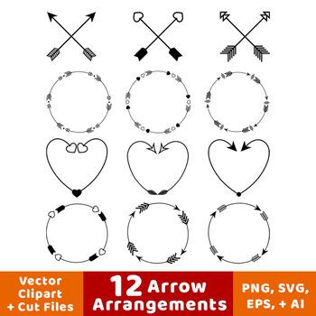 arrow wreath heart. Arrows clipart clip art