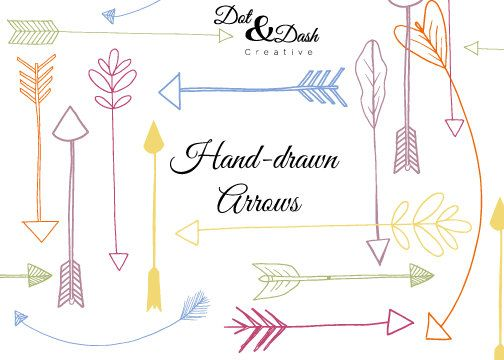 Arrows clipart creative. Hand drawn clip art