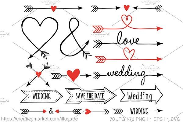 wedding clip art. Arrows clipart creative